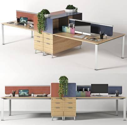 现代, 办公桌, 组合