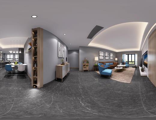 客厅, 沙发组合, 沙发茶几组合, 现代客厅