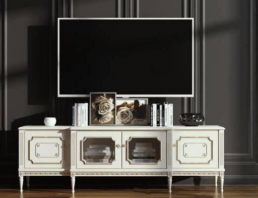 摆件组合, 电视柜, 电视