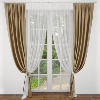 窗帘, 窗户, 布艺, 现代