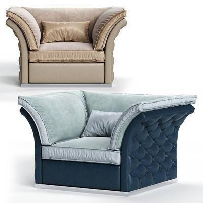 单人沙发, 沙发, 现代单人沙发, 现代