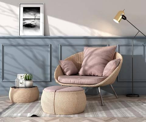 休闲椅, 户外藤椅, 休闲藤椅, 藤编桌椅