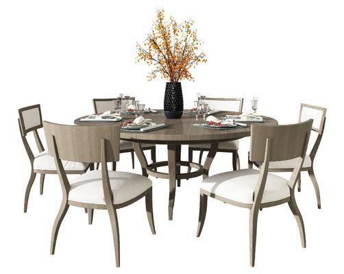 现代美式休闲桌椅组合