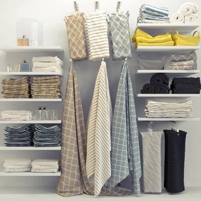毛巾组合, 置物架, 现代