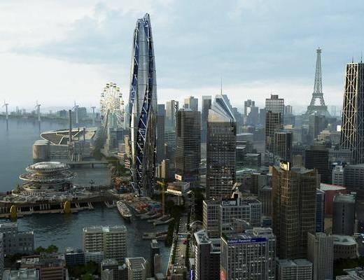 建筑, 鸟瞰规划, 现代