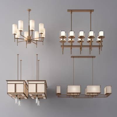 新中式, 灯具, 吊灯