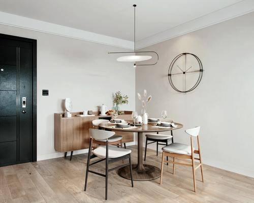 餐桌, 桌椅组合, 吊灯, 墙饰, 餐具组合, 边柜