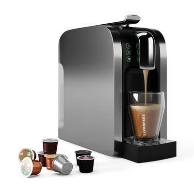 咖啡機, 咖啡杯組合, 現代
