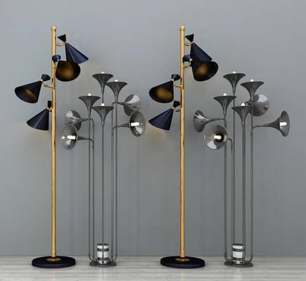 落地灯, 现代落地灯, 金属落地灯, 喇叭落地灯