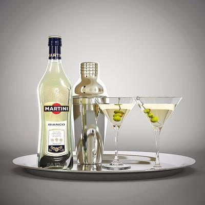 酒瓶, 酒杯