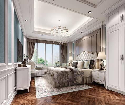 欧式, 卧室, 家装