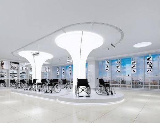 医院展厅, 医院, 医院器材, 现代