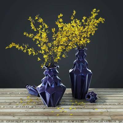 花瓶摆件, 花枝, 摆件, 饰品摆件, 花瓶, 现代