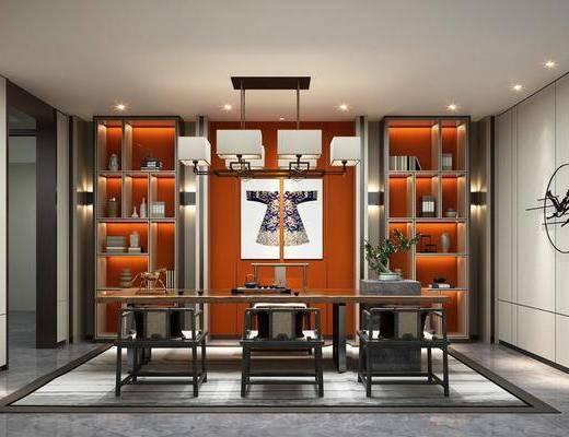 茶室, 桌椅組合, 墻飾, 裝飾柜