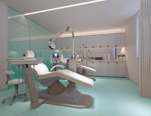 诊所, 医院, 牙医, 现代, 医疗仪器