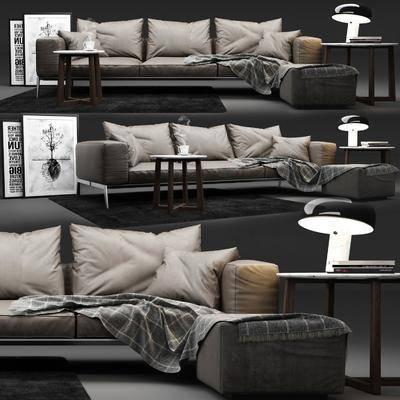 沙发组合, 多人沙发, 现代沙发, 现代沙发茶几组合