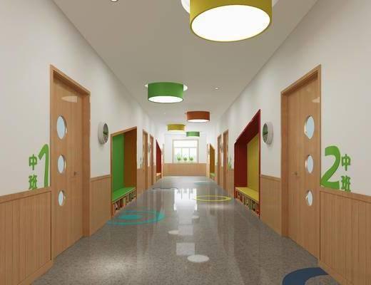 幼儿园, 走廊, 过道