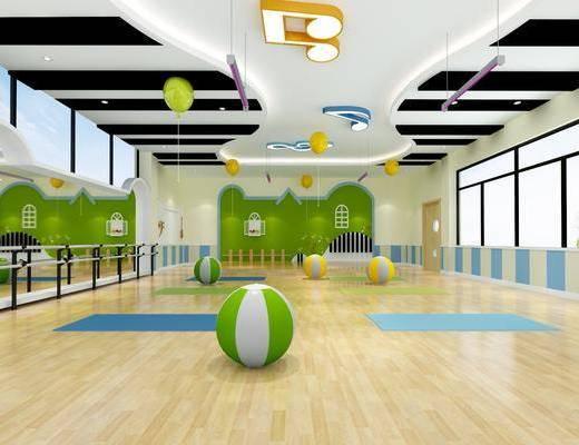 活动室, 舞蹈室, 瑜伽室, 音体室