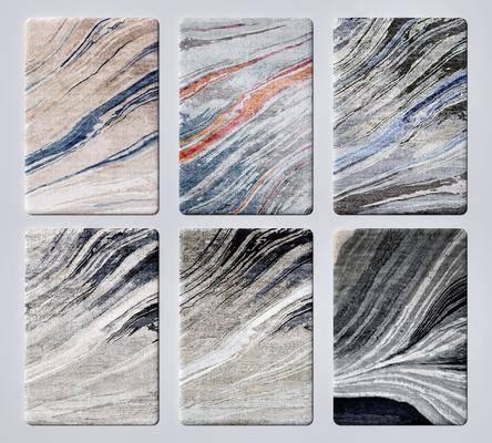 新中式地毯, 抽象地毯