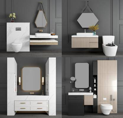 玄关, 洗手盆, 洗手台, 柜架组合