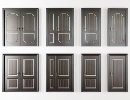 烤漆房门, 双开门, 复合门, 子母门, 现代