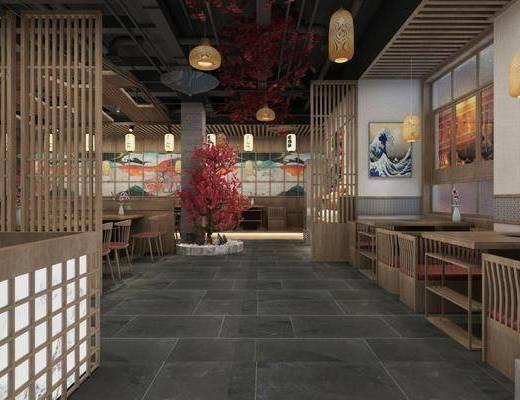 日式, 餐厅, 工装