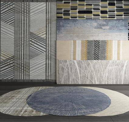 地毯渐变, 圆形地毯, 地毯花纹, 方形地毯, 地毯组合, 现代