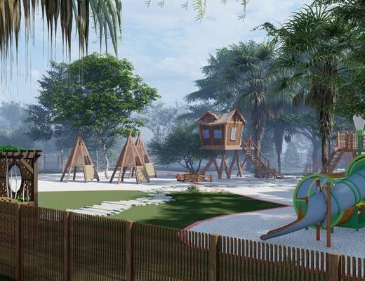 中式木屋民宿木屋小院, 亲子休闲度假生态木屋