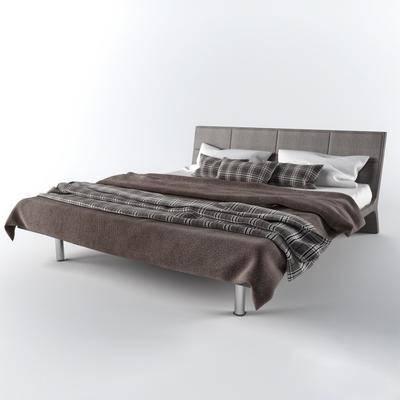 现代双人床, 现代, 床