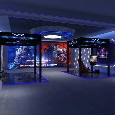 现代vr体验厅, 现代, 奇迹人, 椅子, 显示器