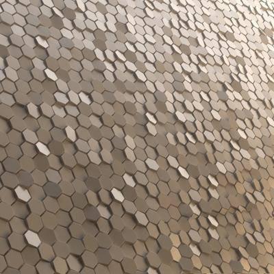 背景墙, 金属, 六边形, 现代