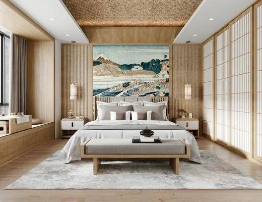 日式, 卧室, 家装