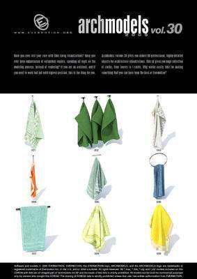 毛巾, 衣服, 窗帘, EvermotionArchmodels, EV, Evermotion