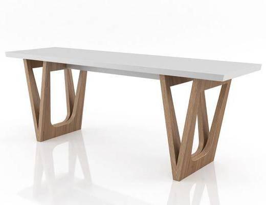 桌子, 辦公長桌, 中式