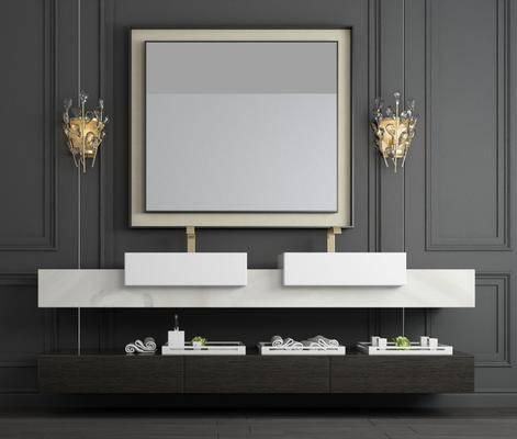 洗手台, 壁灯, 现代