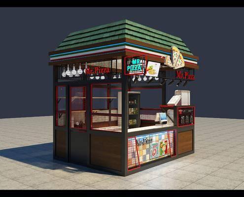 现代披萨小店, 现代, 餐车, 冰箱, 饮料