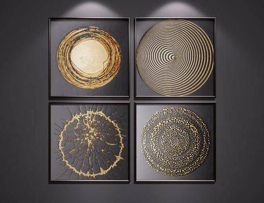 装饰挂画, 挂画组合, 装饰画, 组合画, 抽象画, 艺术画, 端景画, 后现代