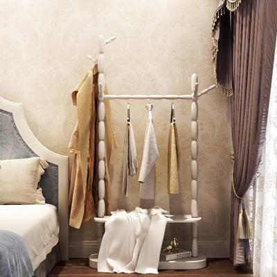 欧式, 衣架, 衣物, 窗帘