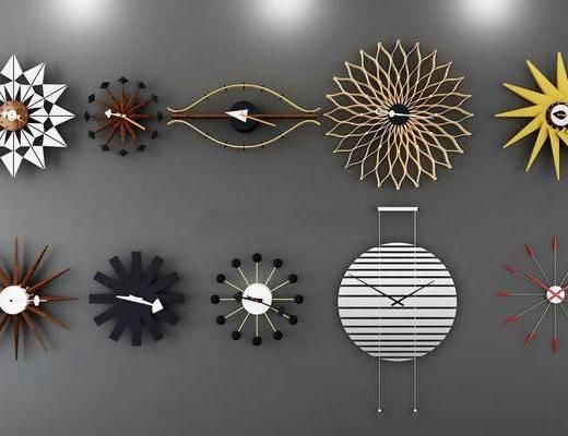 钟表挂钟, 墙饰, 现代