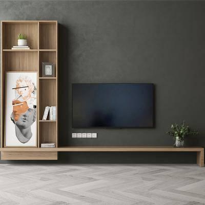现代置物柜, 电视