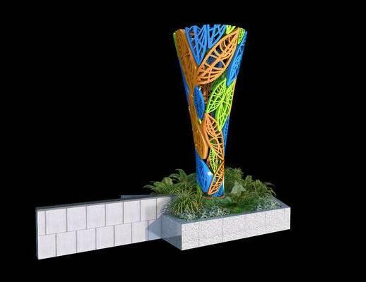 雕塑, 广场雕塑, 城市雕塑, 抽象雕塑, 叶子雕塑, 入口雕塑