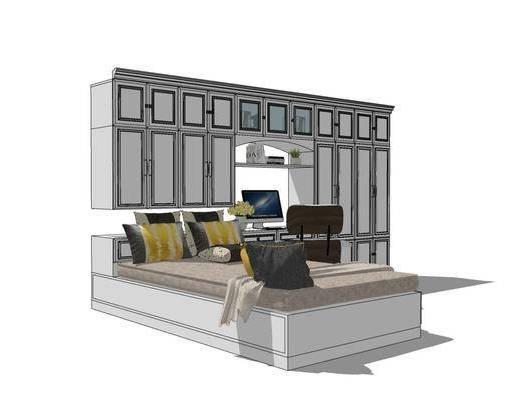 单人床, 床具组合, 桌椅组合