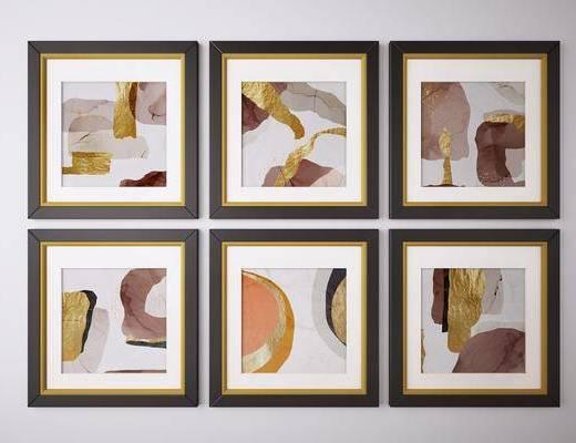 挂画, 装饰画, 艺术画, 抽象画