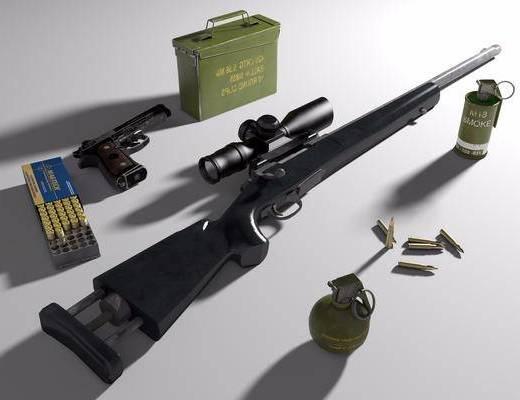 M24, 手枪, 子弹, 手雷