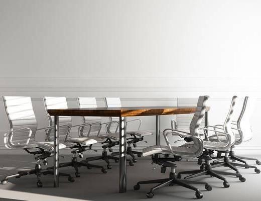 会议桌, 单人椅, 办公椅, 轮滑椅