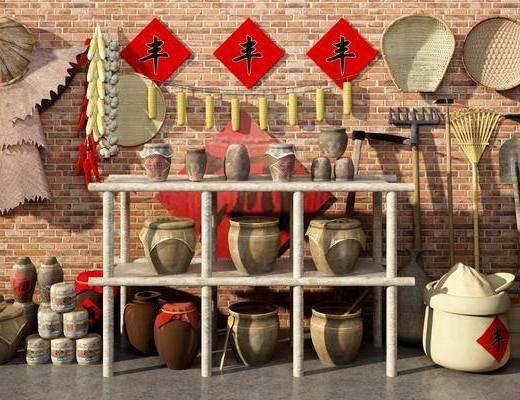 中式农业用品, 中式农具