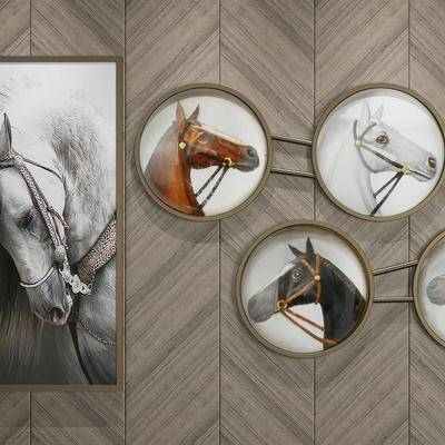 装饰画, 马头, 挂画, 画