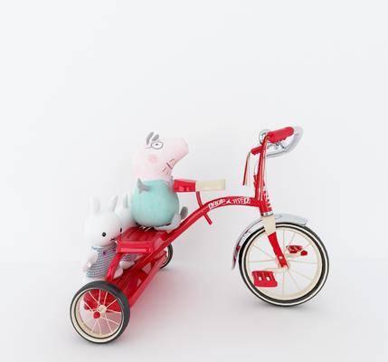 儿童玩具, 玩具, 三轮车, 小猪佩奇