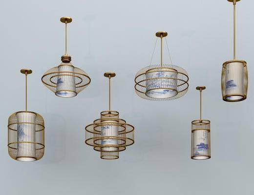 吊灯, 新中式吊灯, 客厅吊灯, 金属吊灯, 艺术吊灯, 餐厅吊灯