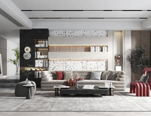 简约, 现代, 客厅, 家装
